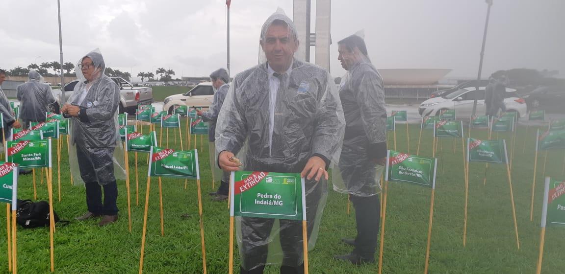 Itamar na mobilização, em Brasília